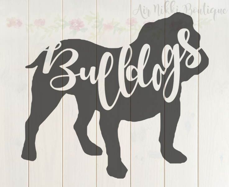 bulldogs, SVG, PNG, DXF files, cricut, silhouette cameo, instant download by AirNikkiBoutique on Etsy