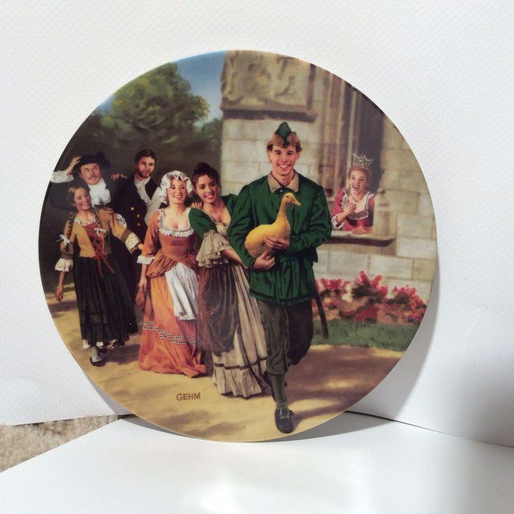 Vintage Bradex Die Goldene Gans/Golden Goose Gehm Plate/Collectible Ceramic by LOVELADYBIRDVINTAGE on Etsy