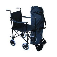 Convenience Chair Lightweight Folding Travel Transport Chair Wheelchair - Great for vacations, holidays, shopping, travel & taking tours or long walks/hikes, etc. $109.95
