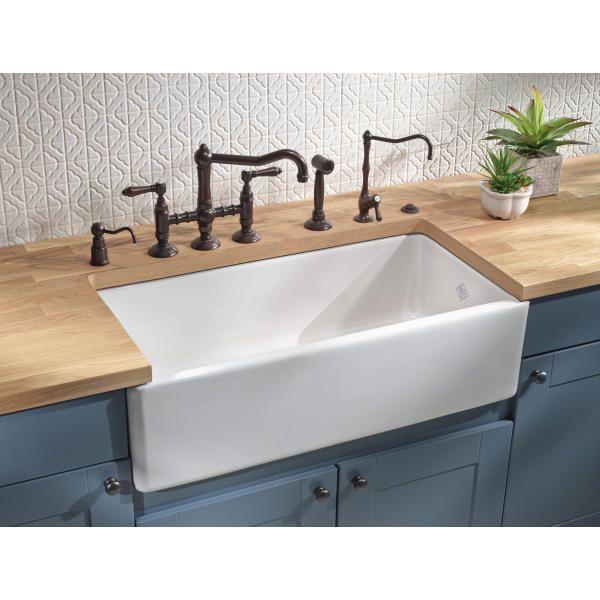 36 Shaws Original Lancaster Fireclay Kitchen Sink In 2020 Farmhouse Sink Kitchen Apron Sink Kitchen Single Bowl Kitchen Sink