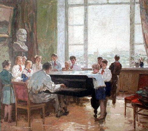 """""""ПИОНЕРСКАЯ ПЕСНЯ"""", 1959.  П. .Драченко"""