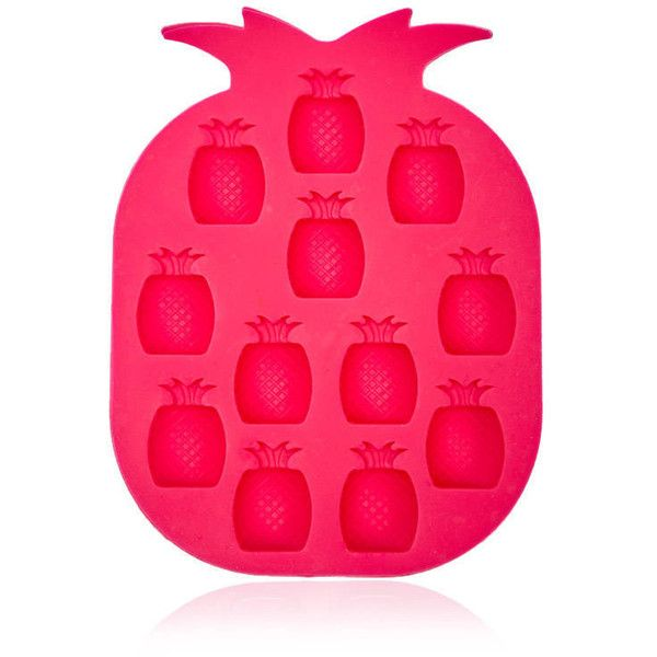 Forever21 Pineapple Ice Cube Tray ($2.90) ❤ liked on Polyvore featuring home, kitchen & dining, kitchen gadgets & tools, hot pink, ice molds, silicon ice tray, pineapple ice tray, silicon ice cube tray and forever 21