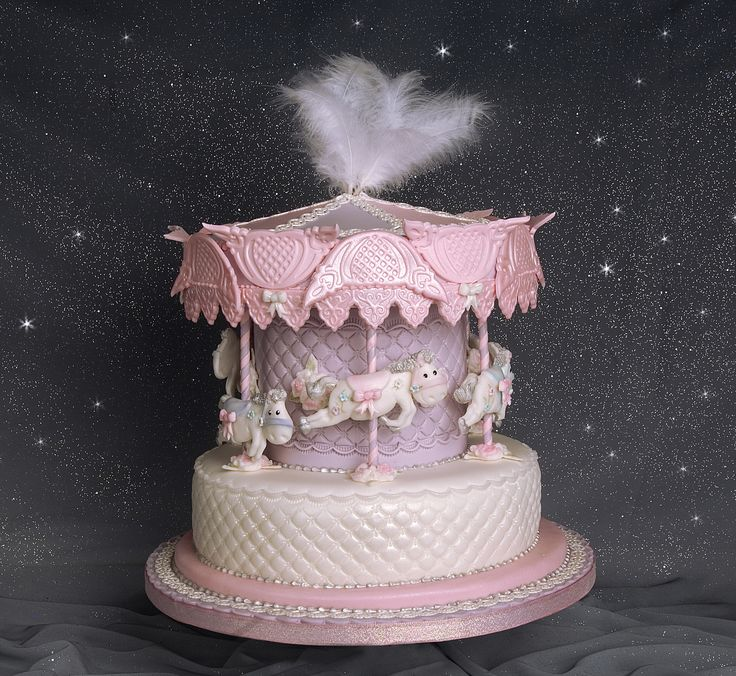Cake Decorating Classes Kitchener : Carousel cake I made for the front cover of my book  A ...