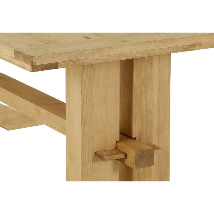 Table rustique en pin 200 cm | Grenier Alpin