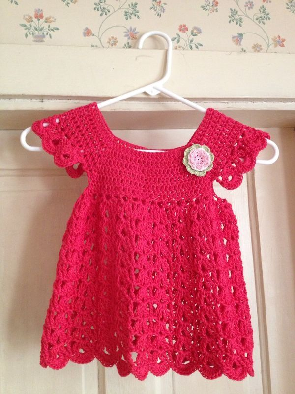 Angel pop-over dress with Free Pattern #Crochet #Dress #Pattern