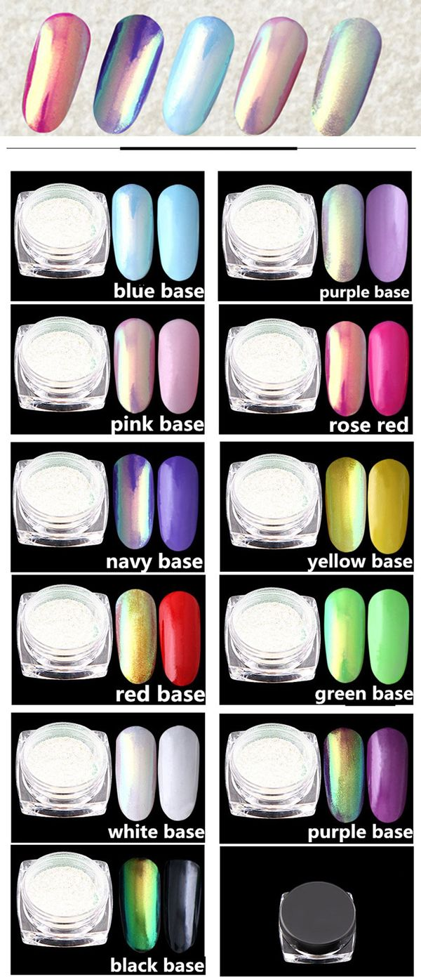 US$ 7.99 Neon Glitter Mirror Nail Powder Mermaid Chrome Pigment Manicure 0.2g