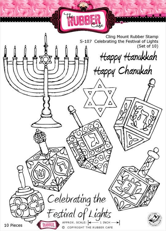Celebrating The Festival of Lights - Cling Mount Rubber Stamp Set from The Rubber Cafe