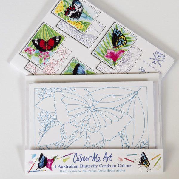 Australian butterflies card making pack