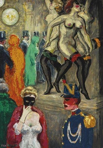 La danse de Carpeaux (Le bal masqué à l'Opéra), Kees van Dongen. Dutch (1877 - 1968)