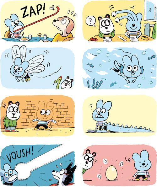 Romain Pujol / Illustrateur 01/01/1989  ilustré que par des onomatopé. C'est une BD facile à comprendre et adapté au enfants , sans texte. C'est une BD Amusante .  Benjamin&Aleyna.