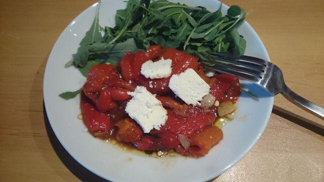 salát z pečené papriky
