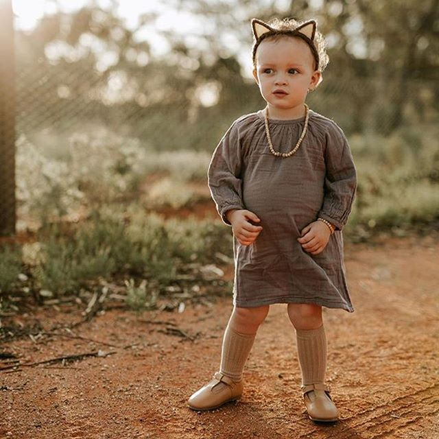 Customer Crushing on gorgeous Indiah wearing the Nina dress in Dusty Lilac by Numero74 and camel socks by Condor. Available in store now!  Thanks so much for letting me share @mumma_maker_photographtaker  #kidsstyle #kidsfashion #numero74 #ninadress