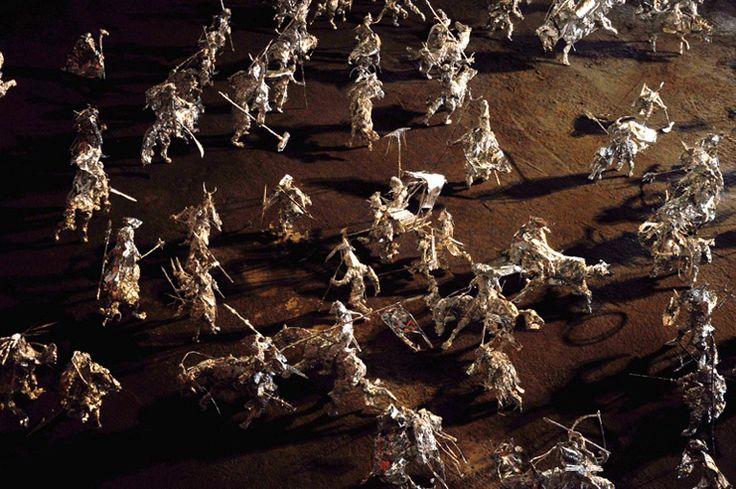 Toshihiko Mitsuya (2011) uses aluminum foil for his warriors