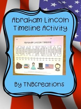 This Timeline Activity is a perfect way to learn about Abraham Lincoln!