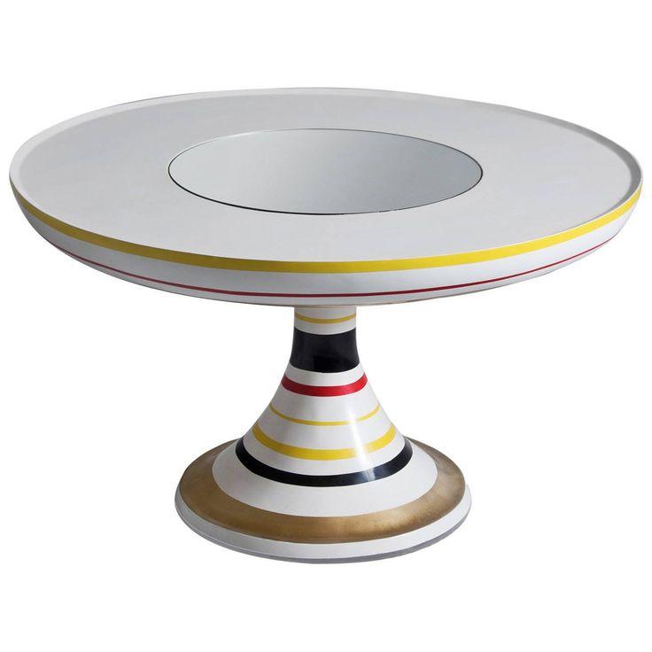 Valentina Audrito Colorful Round Pedestal Table