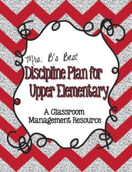 Discipline/Behavior Plan for Upper Elementary Grades