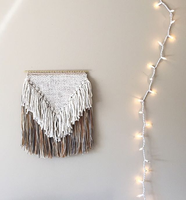gearing up for the next couple of months with this neutral/autumn inspired weaving // this is my favorite design to weave!  it's up in the shop now along with other fiber goodies!! . . . . . . . #weaving #weaveweird #abmathome #craftsposure #craftwithconscience #etsysuccess #makersgonnamake #macrame #homewares #interiorinspo #pineapplephi