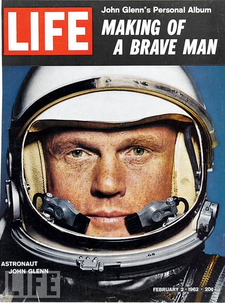 John Glenn. 1st man in space