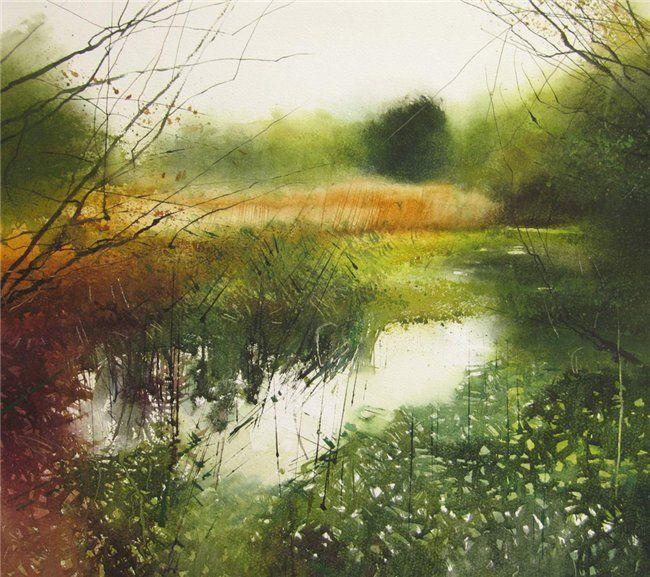 David Parfitt, Sheltering from the rain II.Oil on canvas.