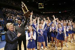 No other college cheerleading squad has dominated the Universal Cheerleaders Association National Championships like the team from Kentucky.