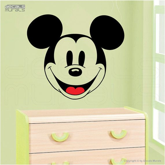 Wall decals classic MICKEY MOUSE FACE Surface graphics interior decor by Decals Murals (22x25)