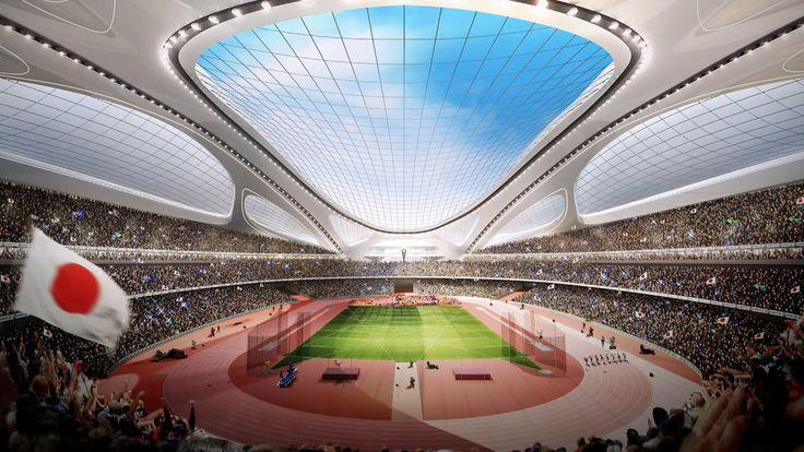 #architecture : Japan New National Stadium. Music by Nick Warren - Devil's Elbow (Max Cooper rework)