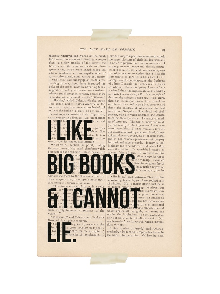 dictionary art vintage I Like BIG BOOKS and I Cannot LIE print - vintage art book page print - sarcastic funny quote dictionary art. $9.00, via Etsy.