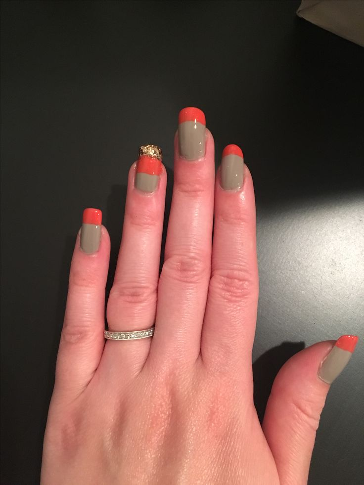 Double French manicure L'Oréal - Eiffel for you OPI - I eat mainely lobster Essie - summit of style