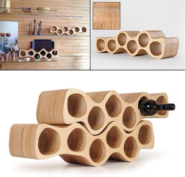 Birch Plywood wine rack
