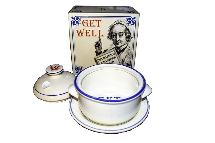"Vintage Style ""get well"" soup bowl $10"