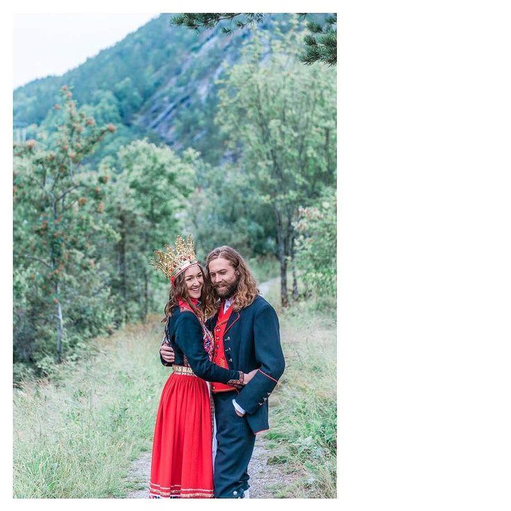 Fun on your wedding day is way more important than a perfected pose  Concept & Styling by Lisa @norwegianweddingblog  and @tinanordbergBridal Bunad male & female (Una & Espen): Eidfjord Kommune Shoes: @norwegianweddingblogHair and make up by @hawwamakeup  Details & decor: Lisa @norwegianweddingblog  Models:  Una Durè | @unadure  Espen Krøll | @espen_kroll Location: Hereid Hardanger Norway  #norway #travelnorway #weddingnorway #norwegianwedding #weddinginnorway #weddingphotographernorway…