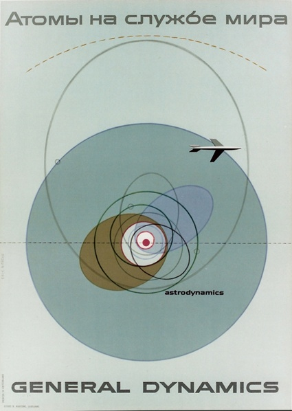 Astrodynamics, General Dynamics, stone lithography by Erik Nitshe.