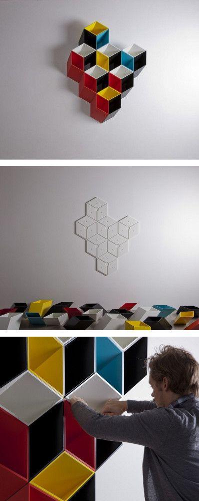 Modular floating #bookcase IMEUBLE by By Corporation | #design Bjørn Jørund Blikstad