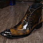 Hombre Zapatos Cuero Tul Primavera Verano Otoño Confort Zapatos de taco bajo y Slip-On Antideslizantes para Deportivo Casual Oficina y 2018 - $40.99