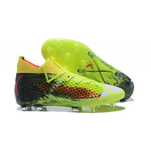 wholesale dealer 1f667 657f3 Botas de futbol Puma Future 18 Netfit Onoff Verde Negro Blanco Football  Shoes, Adidas,