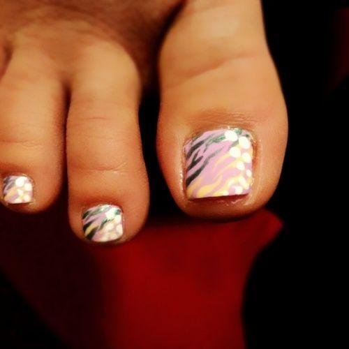 Pink w/ metallic stripes