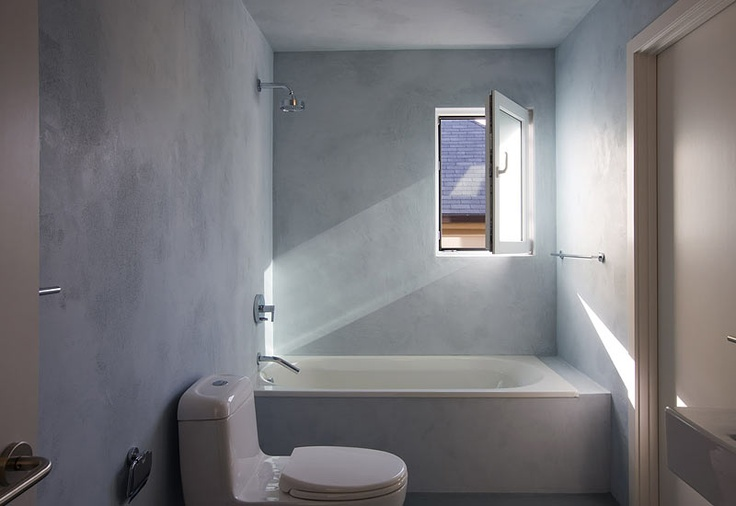 Shower Grade Stucco For An Interior Wall Finish Integral