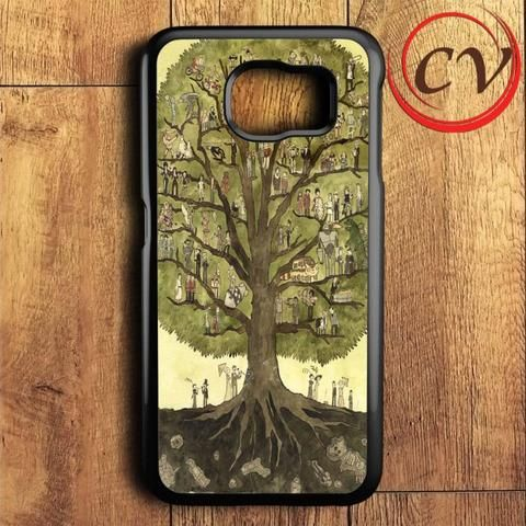 Painting Cartoon Of Tree Samsung Galaxy S6 Case
