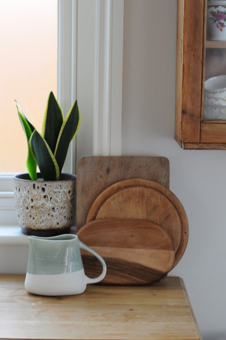Weakend club planter and mother in laws tongue, chopping boards, hand made ceramics