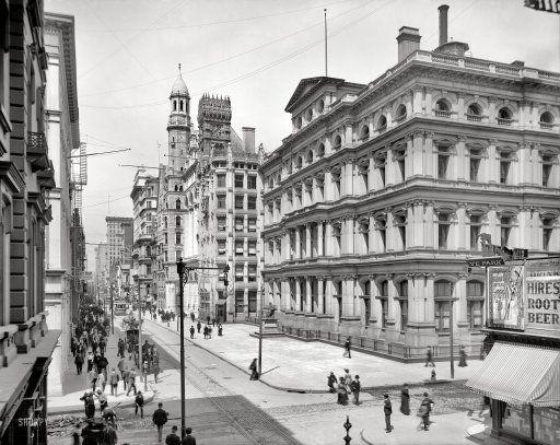 Hires Root Beer: 1904: Philadelphia 1904, Circa 1904, Chestnut Street, 1904 High Resolution, Hires Root, Photo, Root Beer, Philadelphia Circa