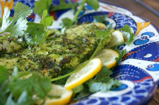 Enjoy the strong, fragrant flavor of cilantro? Try this Broiled Cilantro Chimichurri Dover Sole