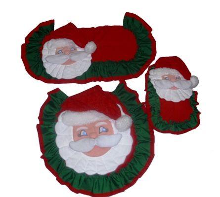 Juego de Santa Claus de 3 piezas. 400 Bs F.