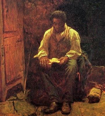 Eastman Johnson (American painter, 1824-1906) The Lord Is My Shepherd 1863