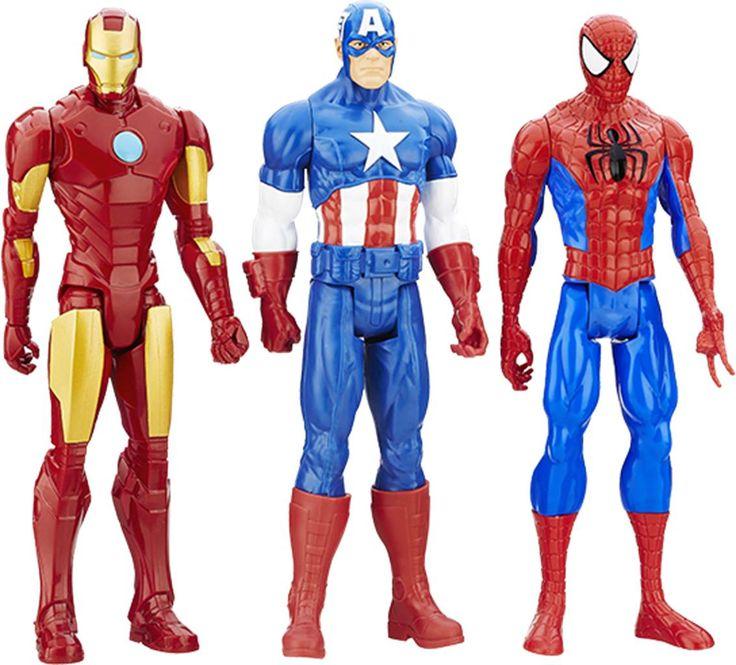 MARVEL Titan Hero figursæt MARVEL Titan Hero Series-actionfigur 3-pakHvorfor vælge mellem forskellige superhelte, når du kan få den perfekte gruppe forbryderbekæmpere med denne Titan Hero Series-figurpakke fra MARVEL?Tre af de mest ikoniske figurer fra MARVEL-verdenen, nemlig Spider-Man, Captain America og Iron Man, står sammen i kampen mod det onde. Alle tre figurer har bevægelige led, så du kan sætte dem i actionfyldte stillinger, før du sender dine helte i kamp. Hver for sig er de stærke…
