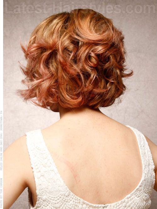 Marilyn magia retro ondulado Bob Cara Una párr redonda Vista posterior
