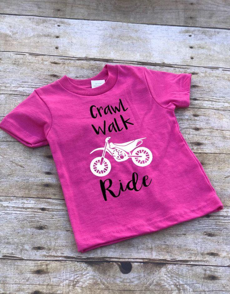 Crawl Walk Ride Onesie/Dirtbike Toddler Shirt/Motocross ...