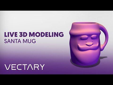 VECTARY Live 3D Modeling   Santa Mug - YouTube    #christmas #decoration #christmasdecor #ChristmasTree #howto #voronoi #decor #christmastime #santa #santaclaus #christmasgifts