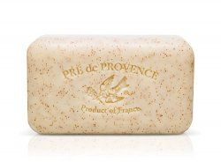 Pre De Provence Honey Almond Soap, 150g wrapped bar. Imported from France. With shea butter and natural herbs and scents. by Pre de Provence. $8.85. Made in France. Natural Ingredients. Quad Milled. 150 grams (5.2 ounces). This made in France soap contains shea butter and other natural ingredients. It is quad-milled, a special production process that refines the soap four times, creating a super luxurious feel on skin and a smooth creamy lather that keeps skin moi...
