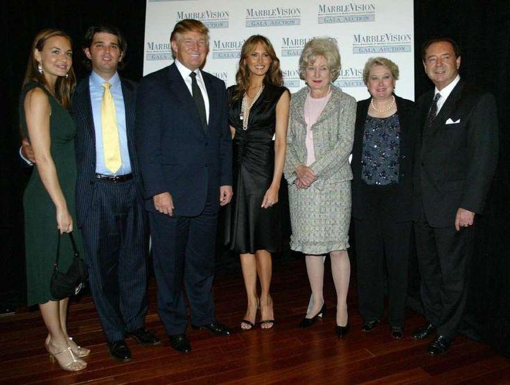 A 2005 photo of Trump family, from left to right, Vanessa Haydon, Donald Trump, Jr., Donald Trump, wife Melania, Maryanne Trump Barry, Elizabeth Trump Grau and husband James Grau.