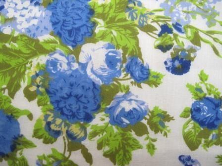 Fabric Godmother - Sophie Floral Cotton - Blue, £5.00 (http://www.fabricgodmother.co.uk/sophie-floral-cotton-blue/)